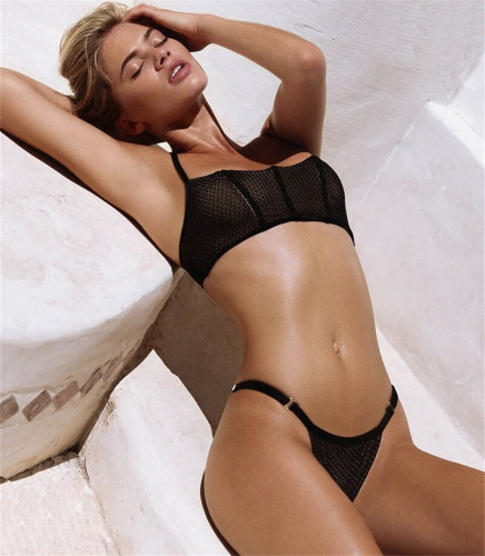 Black Mesh Swimsuit