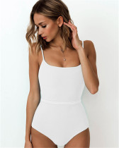 White One-piece bikini