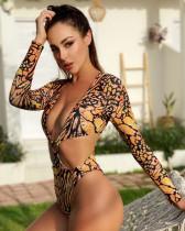 Printed one-piece bikini