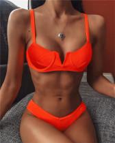 Orange Bikini v-neck