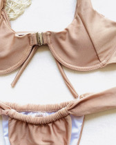 Brown Solid color bikini