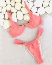 Pink Solid color bikini