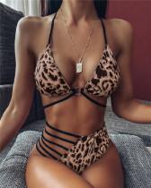 Leopard print Hollow bikini