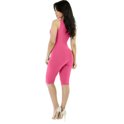 Rose red Fashion Sports Overalls