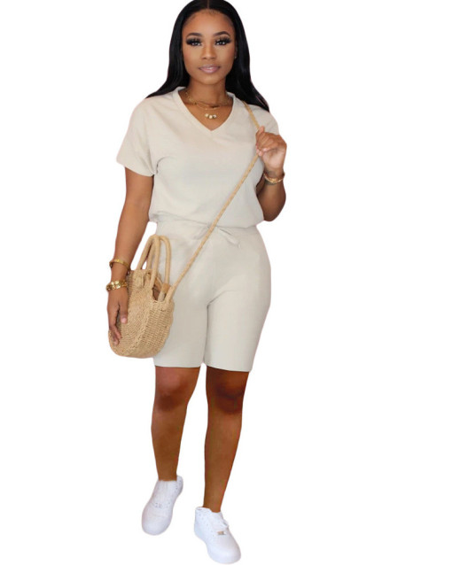 White New Pure Slim Fit With Pocket Sports Two Piece Set