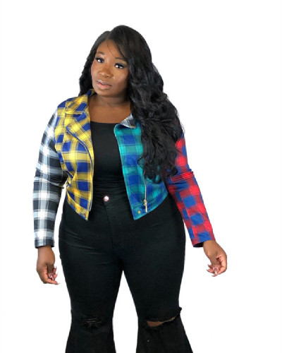 Amazon Euro-America XL Women's Spring New Print Fat Woman Fat Woman Jacket 5XL
