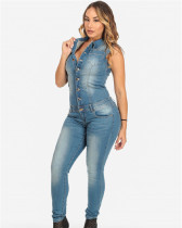 Slim fit bodysuit jeans