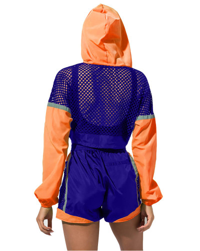Sports explosive long-sleeved hooded suit