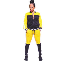 New women's autumn and winter new casual stitching sports two-piece suit