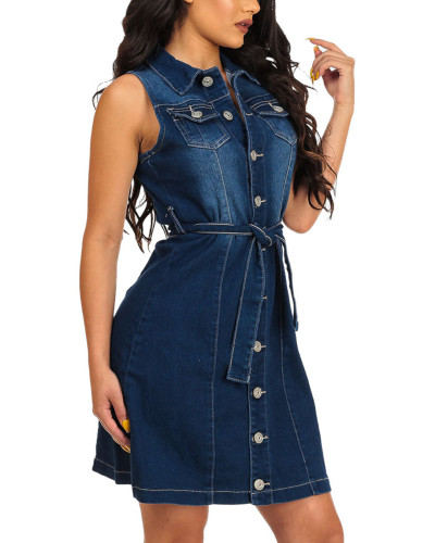 Denim dress bag hip skirt nightclub skirt