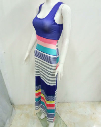 1 Bohemian style colorful striped dress
