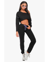 Elastic waist small feet pants casual sports suit