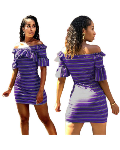 Violet Ruffled frilled dress