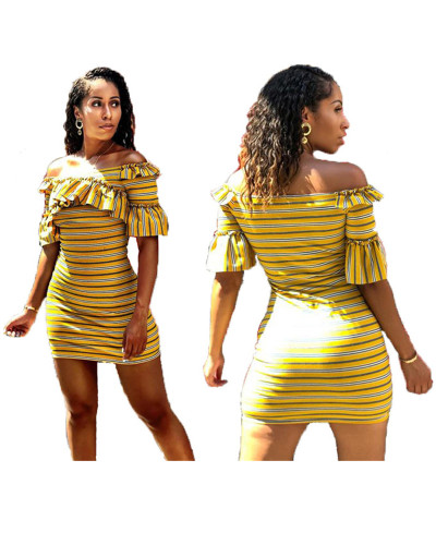 Yellow Ruffled frilled dress