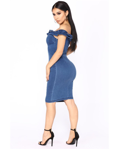 Sexy denim dress