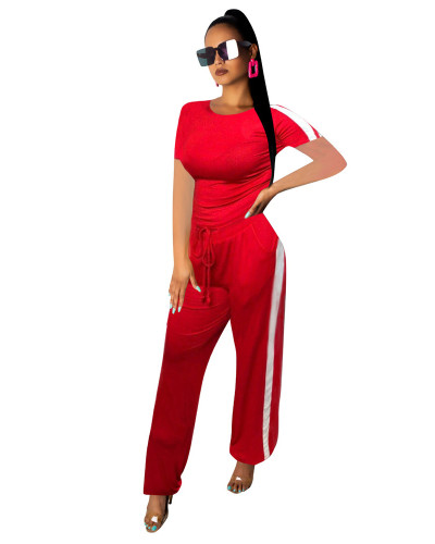 Red Fashionable multicolor casual suit