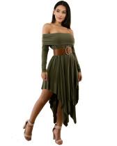 Green Sexy plus size dress