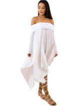 White Sexy plus size dress