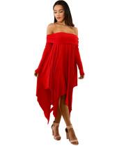Red Sexy plus size dress