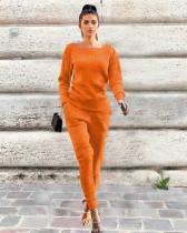 Orange Urban leisure two-piece set