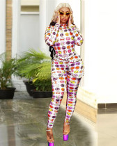 Fashion casual digital printed jumpsuit