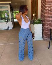 Cutout wide-leg pants