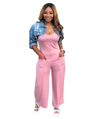 Pink Casual home jumpsuit