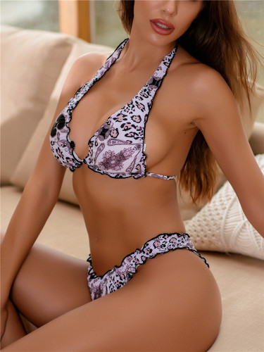 Ruffled swimwear European and American ladies bikini