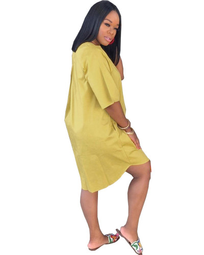 Yellow Solid color pocket nightclub