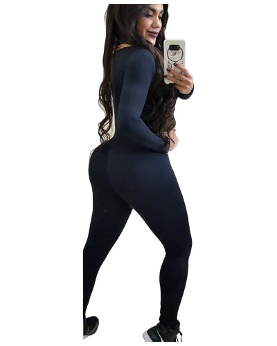 Super recommended mesh perspective stitching sports nightclub jumpsuit