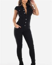 2020 Denim Fashion Casual Slim Skinny Jeans Jumpsuit