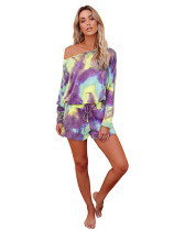 3 Print Tie-Dye Gradient Home Set Two Piece Set
