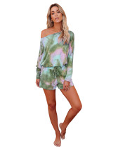 5 Print Tie-Dye Gradient Home Set Two Piece Set