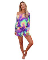 4 Print Tie-Dye Gradient Home Set Two Piece Set