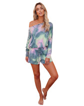 2 Print Tie-Dye Gradient Home Set Two Piece Set