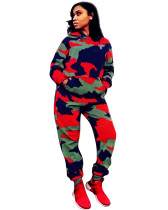Camouflage fashion casual two-piece suit