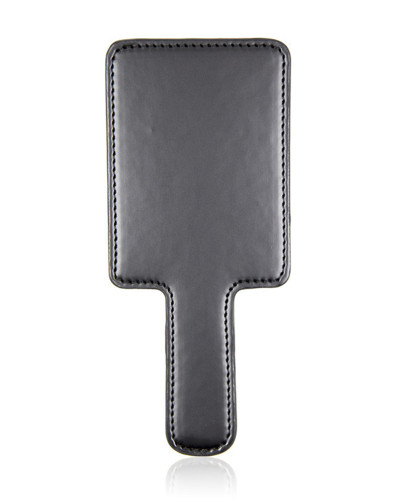 Black square leather pat