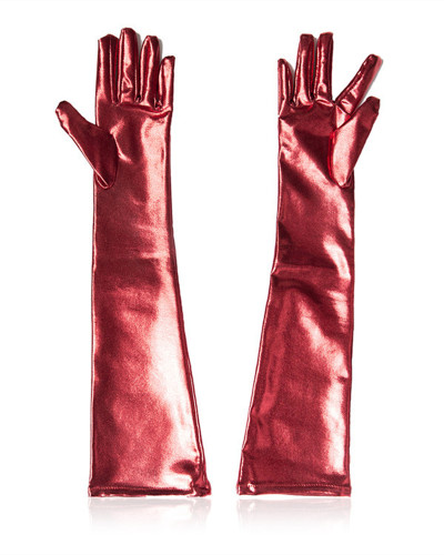 Red Five-finger gloves for female equipment