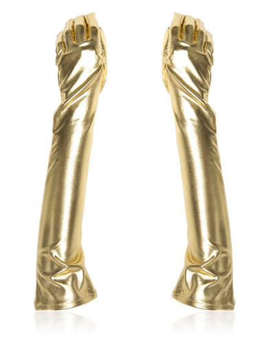 Gold Five-finger gloves for female equipment