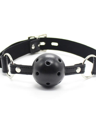 Hollow black ball with lock and silver lock