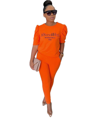 Orange Solid color with pocket 5 minutes sleeve casual suit