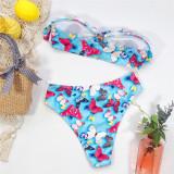 Blue Butterfly swimsuit ladies split swimsuit