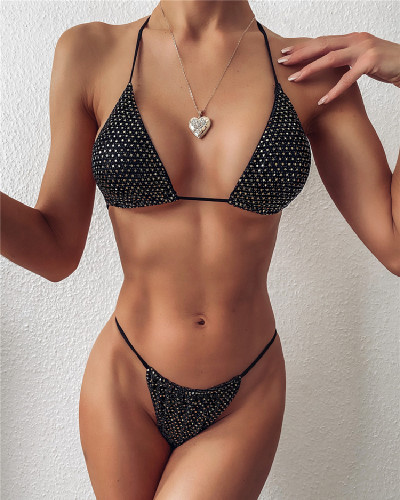 Women's split swimsuit triangle bikini