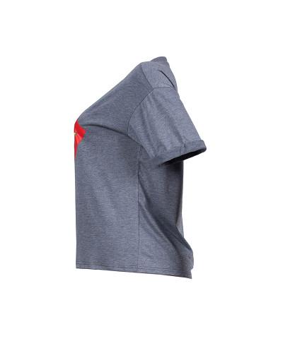 Gray Tongue print T-shirt