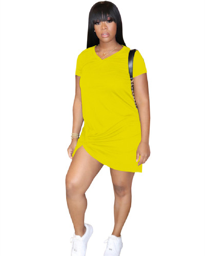 Yellow Knotted dress