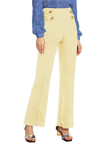 Beige Euro-American fashion casual wide-leg pants five colors