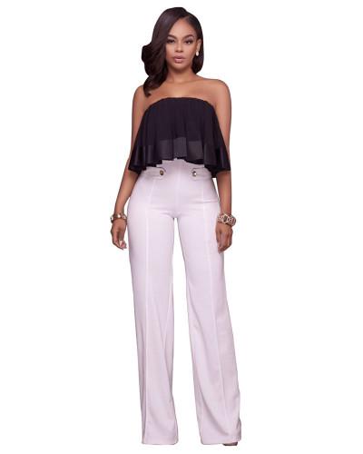 White Euro-American fashion casual wide-leg pants five colors