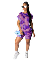 Purple 2020 street stylish breathable casual printing fashion two piece set