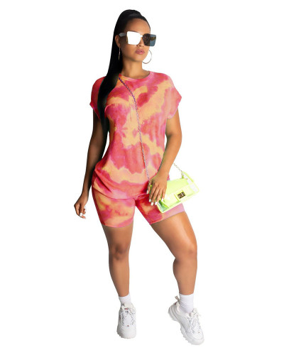 Red 2020 street stylish breathable casual printing fashion two piece set