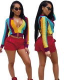Multicolor 2020 Youtube expert summer fashion personality mesh casual knitted breathable printed jacket